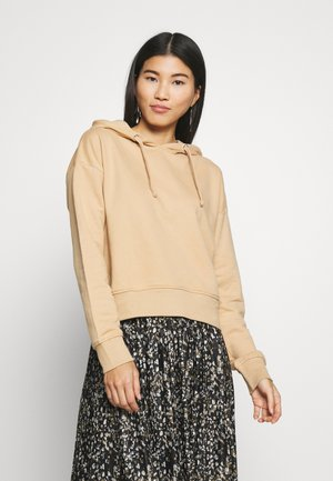 LOOSE FIT HOODIE  - Jersey con capucha - tan