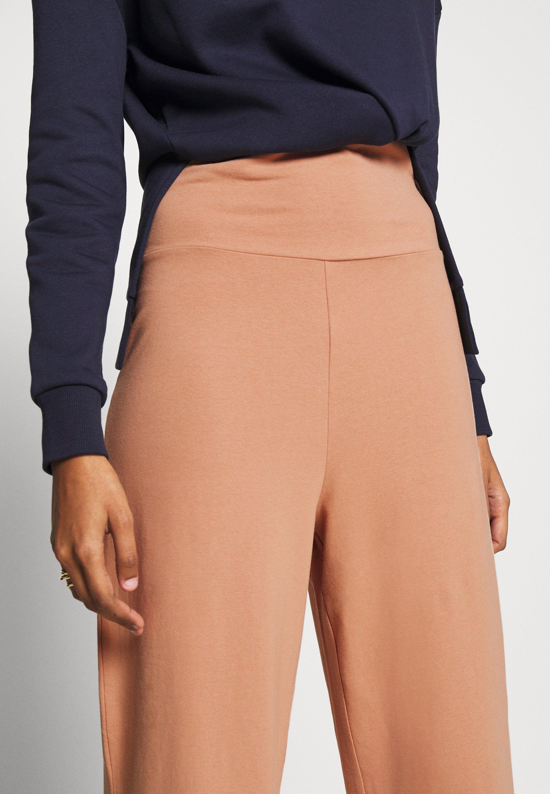 CALANDO COMFY STRAIGHT LEG TROUSERS - Spodnie materiałowe - tan