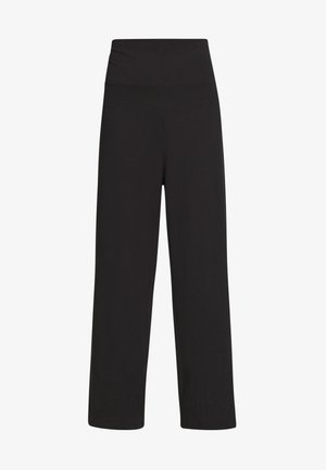 COMFY STRAIGHT LEG TROUSERS - Trousers - black