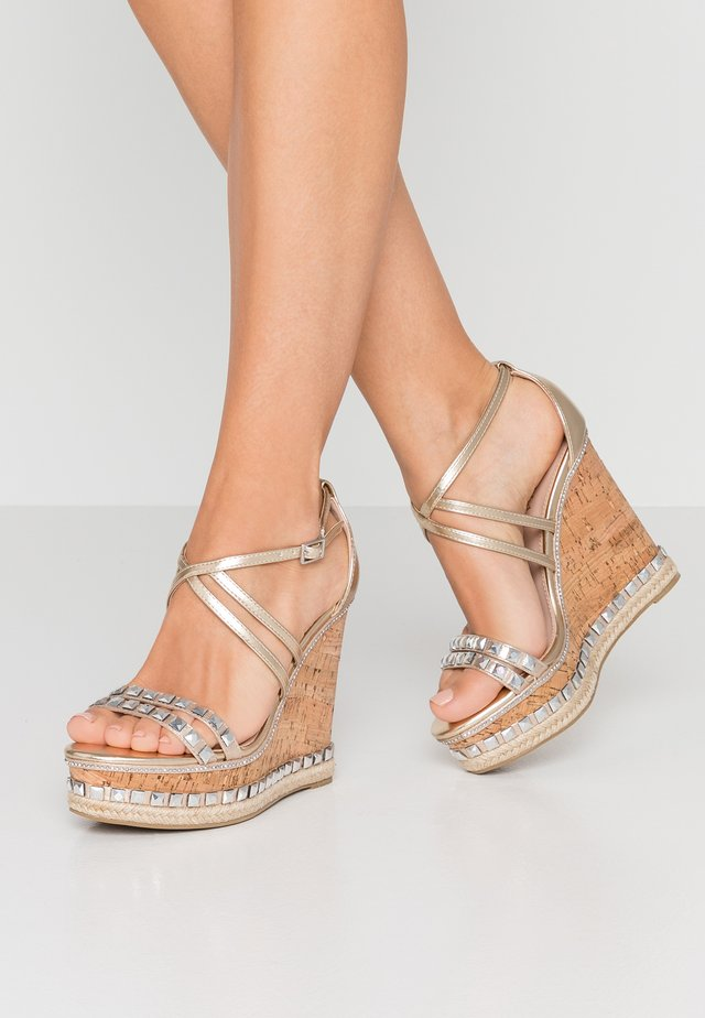 GRAB - High Heel Sandalette - gold