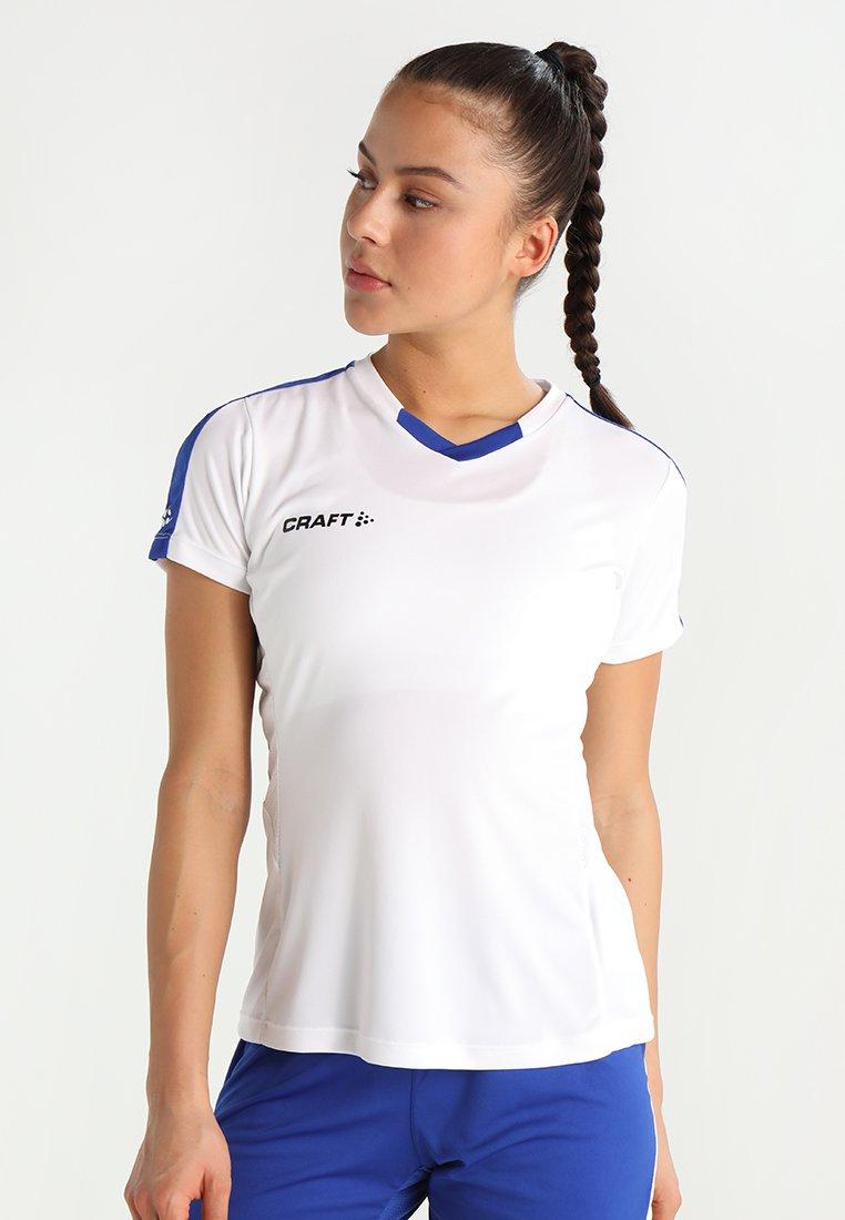 Craft - PROGRESS CONTRAST  - Camiseta estampada - white/cobalt