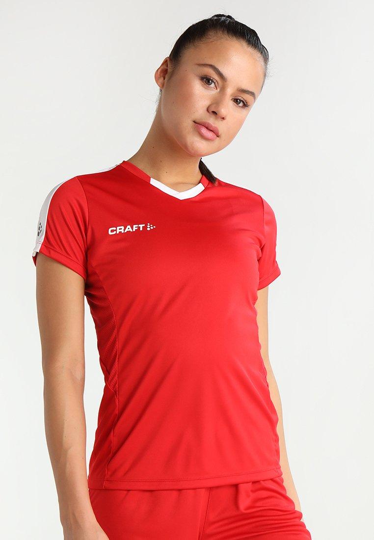 Craft - PROGRESS CONTRAST  - Camiseta estampada - bright red/white