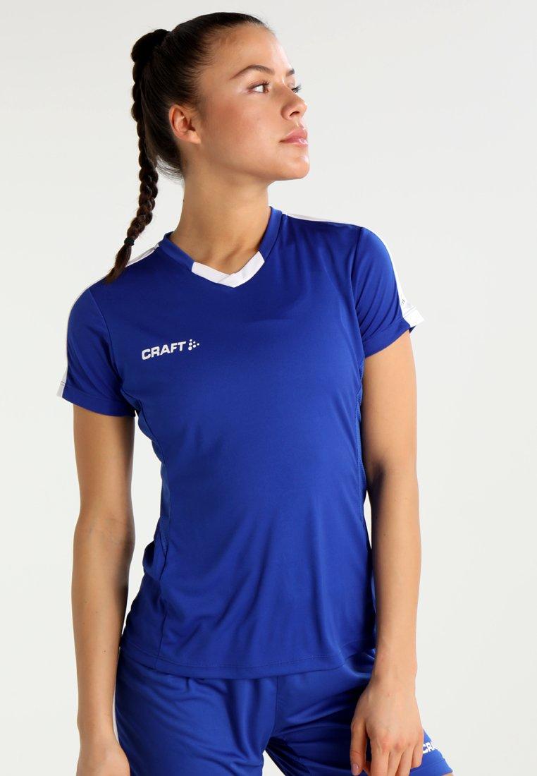 Craft - PROGRESS CONTRAST  - Camiseta estampada - cobalt/white
