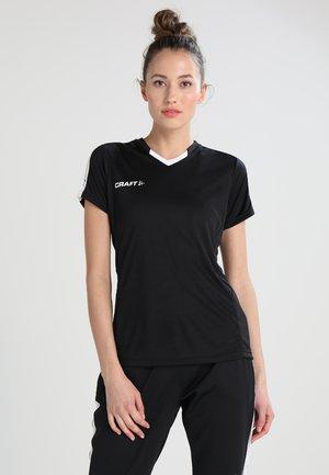 PROGRESS CONTRAST  - T-shirt med print - black/white