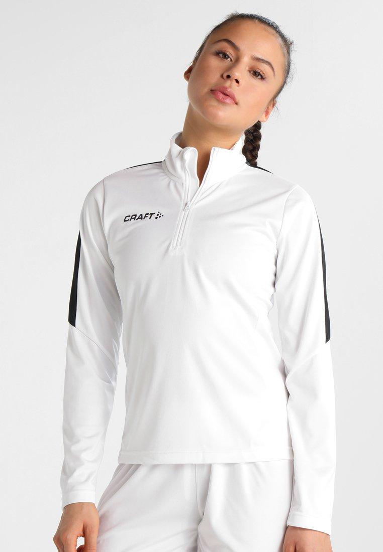 Craft - PROGRESS HALFZIP TEE - Teamwear - white