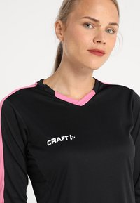 Craft - PROGRESS CONTRAST - Sports shirt - black/pop - 3