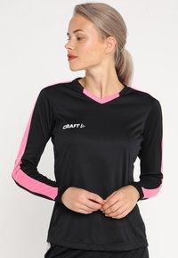 Craft - PROGRESS CONTRAST - Sports shirt - black/pop - 0
