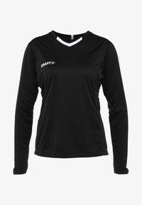 Craft - PROGRESS CONTRAST - Sports shirt - black/white - 5