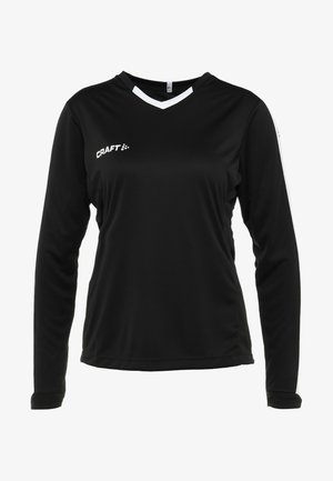 PROGRESS CONTRAST - Sports shirt - black/white