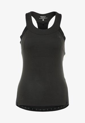 HALE GLOW SINGLET  - Sports shirt - black