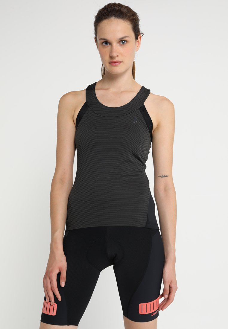 Craft - HALE GLOW SINGLET  - Sports shirt - black