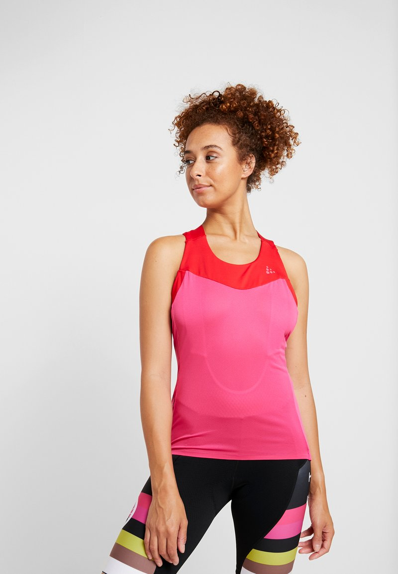 Craft - STRIDE SINGLET - Top - fame/bright red