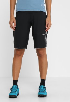 VELO SHORTS 2-IN-1 - kurze Sporthose - black/white