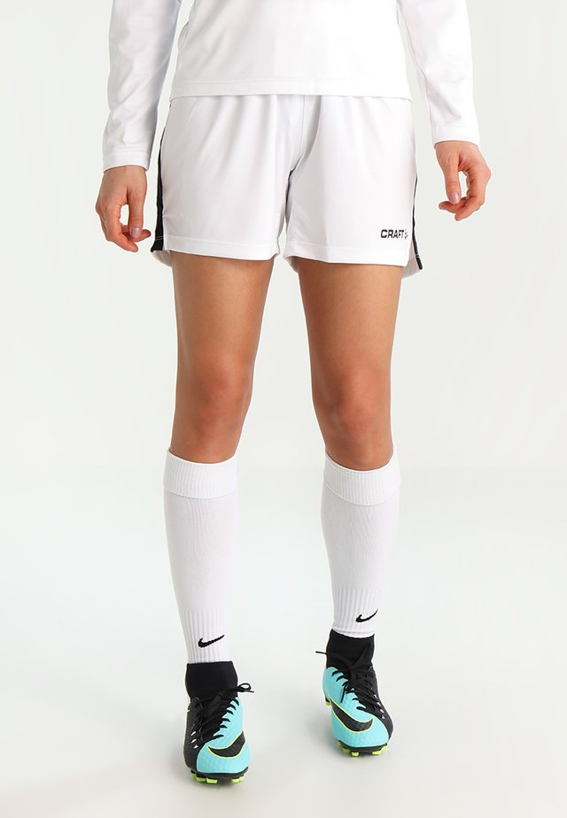PROGRESS SHORT CONTRAST - Teamwear - white/black