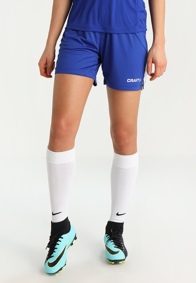 PROGRESS SHORT CONTRAST - Teamwear - cobalt/ white