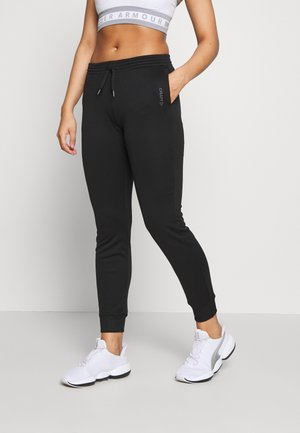 LEISURE - Pantalones deportivos - black