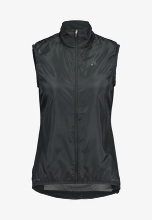 ESSENCE LIGHT WIND VEST - Waistcoat - black