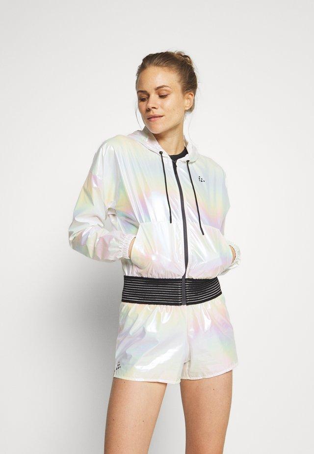 SHINY HOOD JACKET  - Sportovní bunda - silver