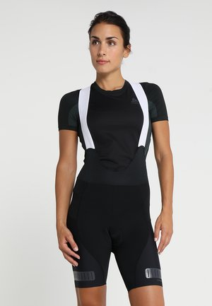 HALE GLOW BIB SHORTS - Tights - black