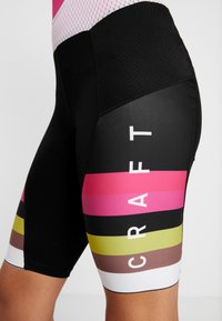 Craft - HALE GLOW BIB SHORTS - Tights - black/fame - 5