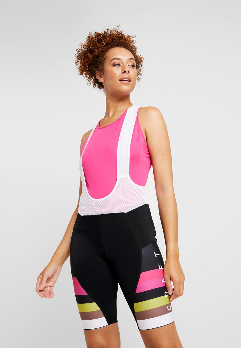 Craft - HALE GLOW BIB SHORTS - Tights - black/fame