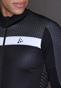 Craft - ROUTE - Langarmshirt - black/white - 5