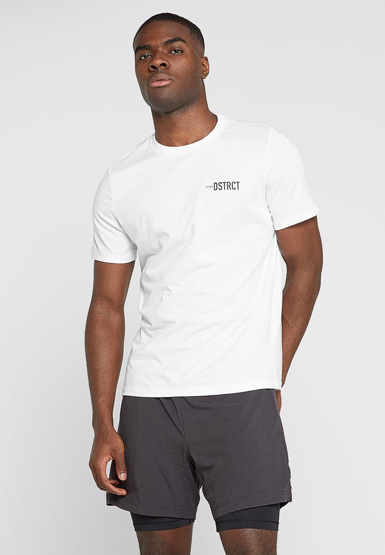 Craft - DISTRICT CLEAN TEE - T-shirt med print - white