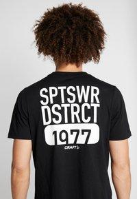 Craft - DISTRICT CLEAN TEE - T-Shirt print - black - 5