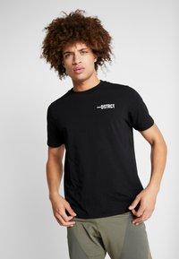 Craft - DISTRICT CLEAN TEE - T-Shirt print - black - 0