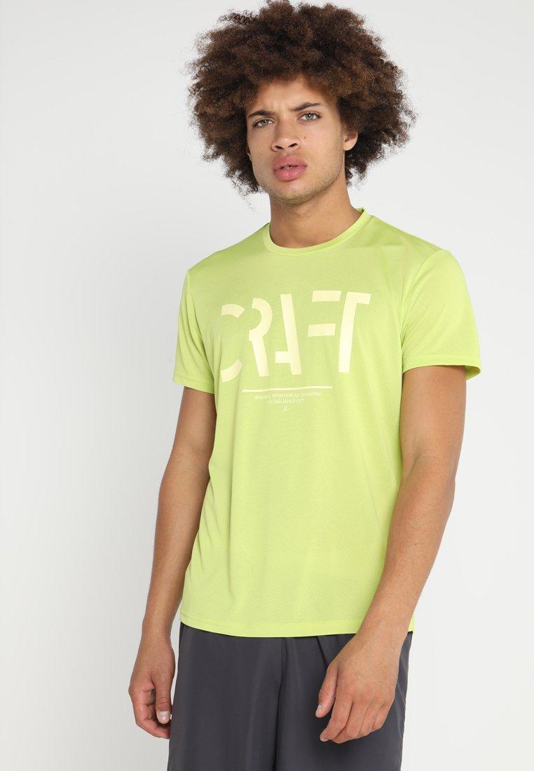 Craft - EAZE TEE  - T-shirt z nadrukiem - lime