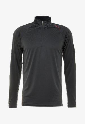 EAZE HALF ZIP  - T-shirt à manches longues - black