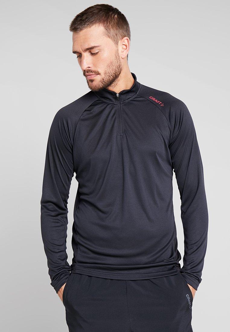 Craft - EAZE HALF ZIP  - Long sleeved top - black