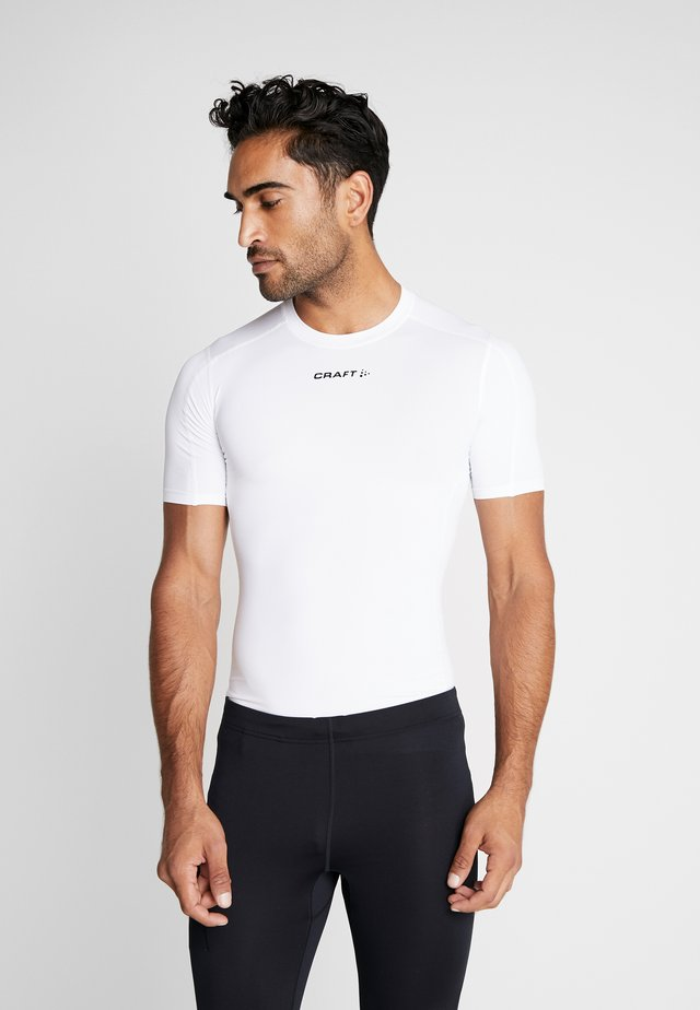 PRO CONTROL COMPRESSION TEE - T-Shirt print - white