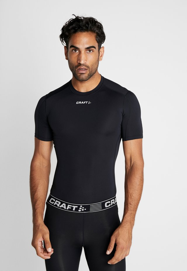 PRO CONTROL COMPRESSION TEE - T-shirt med print - black