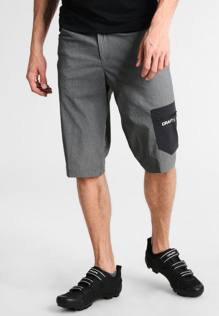 Craft - REEL 2-In-1 - kurze Sporthose - dark grey melange/black