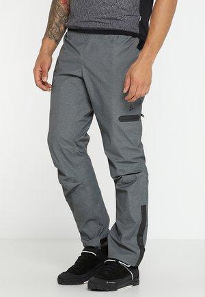 RIDE PRECIP PANTS - Spodnie materiałowe - dark grey melange