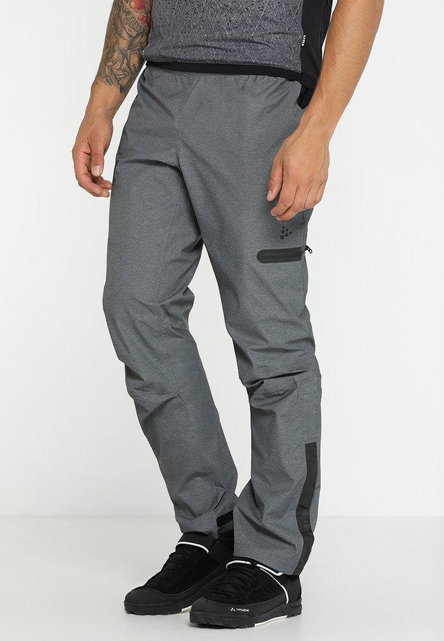 RIDE PRECIP PANTS - Bukser - dark grey melange