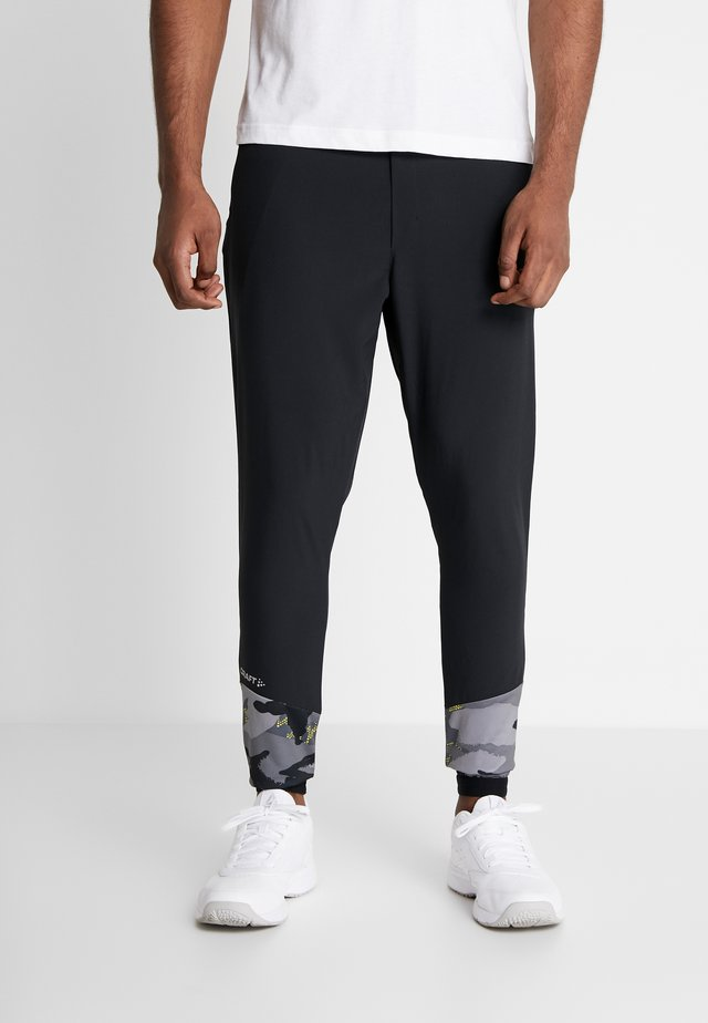 ESSENCE TRAINING PANTS - Trainingsbroek - black/multicolored