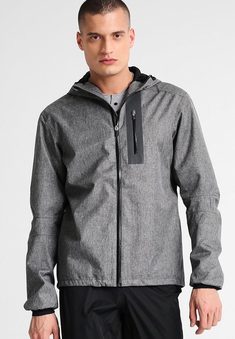 Craft - RIDE RAIN JACKET - Regenjacke / wasserabweisende Jacke - dark grey melange/black