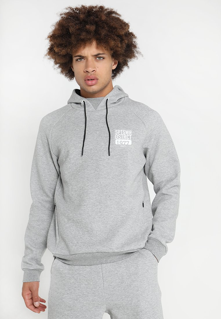 Craft - DISTRICT HOOD - Hoodie - grey melange