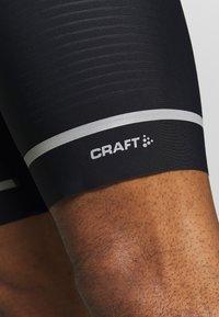 Craft - HALE BIB SHORTS  - Leggings - black/white - 5