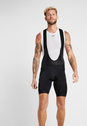 ESSENCE BIB SHORTS - Legginsy - black