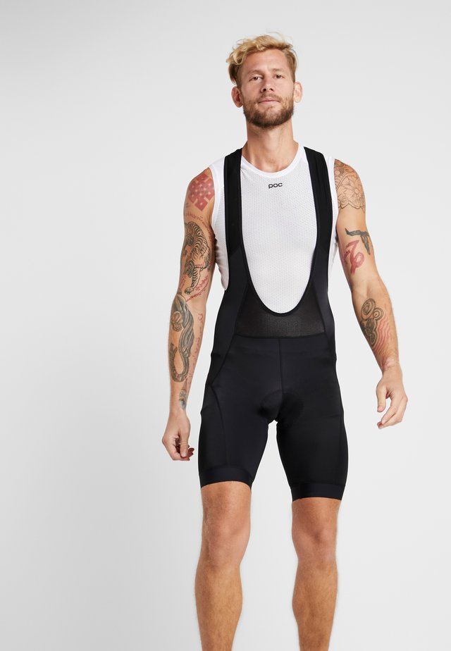ESSENCE BIB SHORTS - Tights - black