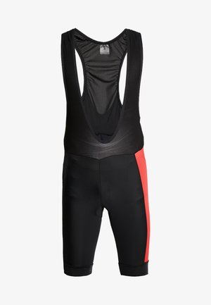 ADOPT BIB SHORTS - Tights - black/bright red