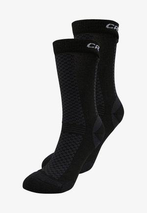 WARM MID 2 PACK - Sports socks - black/white