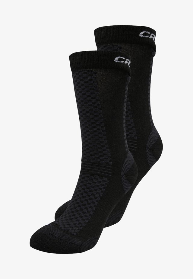 WARM MID 2 PACK - Sportovní ponožky - black/white
