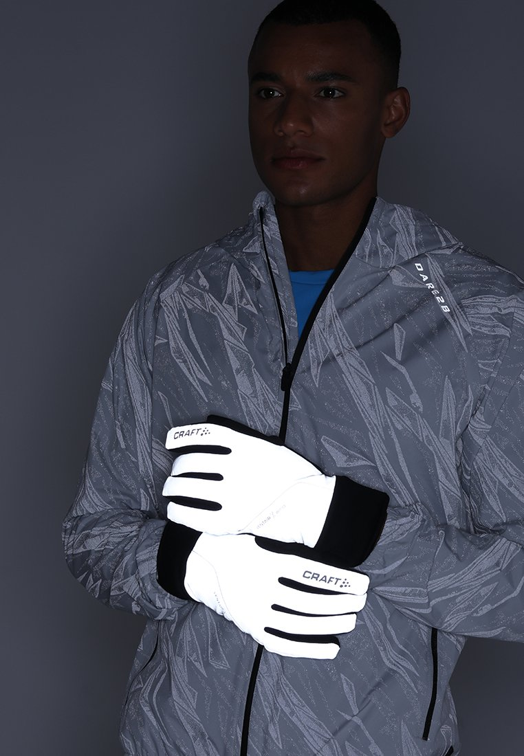 Craft - SIBERIAN GLOW GLOVES - Gloves - silver/black