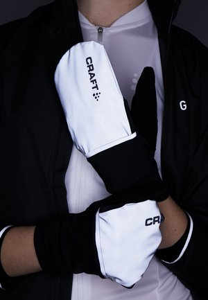 HYBRID WEATHER GLOVES - Gants - silver/black