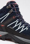 CMP - RIGEL MID SHOES WP - Outdoorschoenen - blue/giada/peach