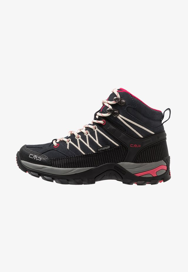 RIGEL MID TREKKING SHOE WP - Hiking shoes - antracite/offwhite